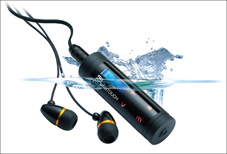 Swimmer MP3 player NU Dolphin Touch