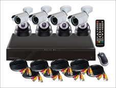 Surveillance Camera Kit: 8CH DVR and 4 Bullet Cameras / 4 Dome Cameras